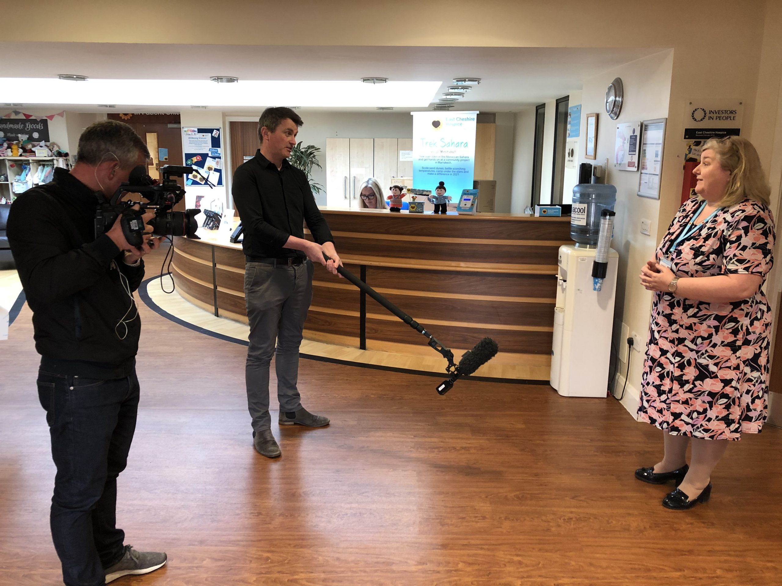 BBC News at East Cheshire Hospice